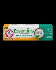 Arm & Hammer Essentials Whiten & Strengthen Fluoride Toothpaste, .9 oz
