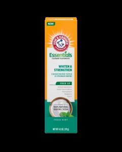 Arm & Hammer Essentials Whiten & Strengthen Fluoride Toothpaste, 4.3 oz